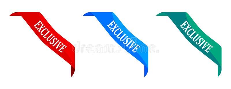 Kleurenhoeken met een exclusief teken royalty-vrije illustratie