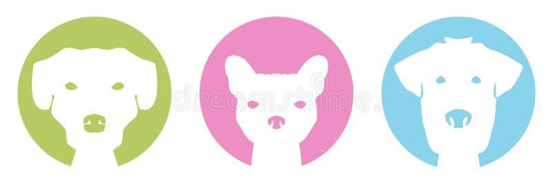 Kleurenhonden stock illustratie