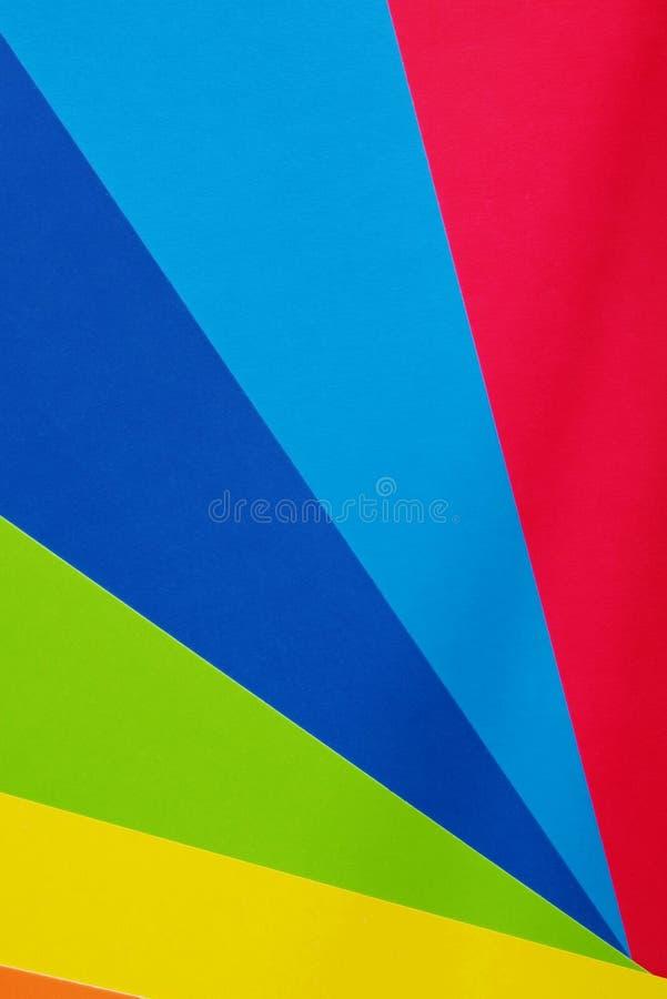 Kleurenkarton voor creativiteit Multicolored achtergrond Schoollevering voor toepassingen royalty-vrije stock foto