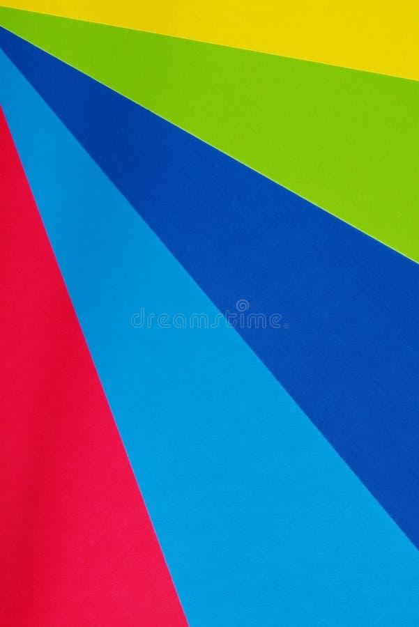 Kleurenkarton voor creativiteit Multicolored achtergrond Schoollevering voor toepassingen stock fotografie