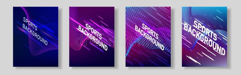 Kleurennetwerk van sportendekking Voor uw ontwerp royalty-vrije illustratie