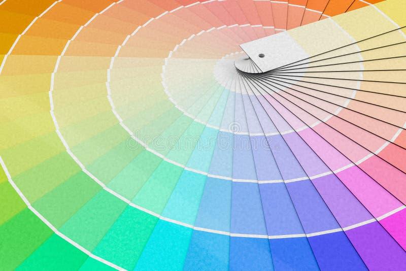 Kleurenpalet - gids van verfsteekproeven 3D teruggegeven illustratie vector illustratie