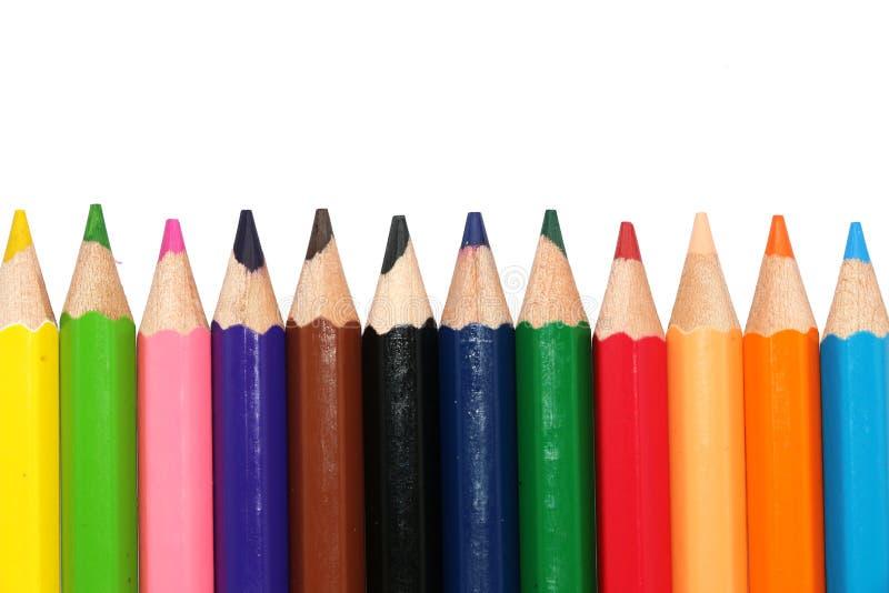 Kleurenpen royalty-vrije stock afbeeldingen