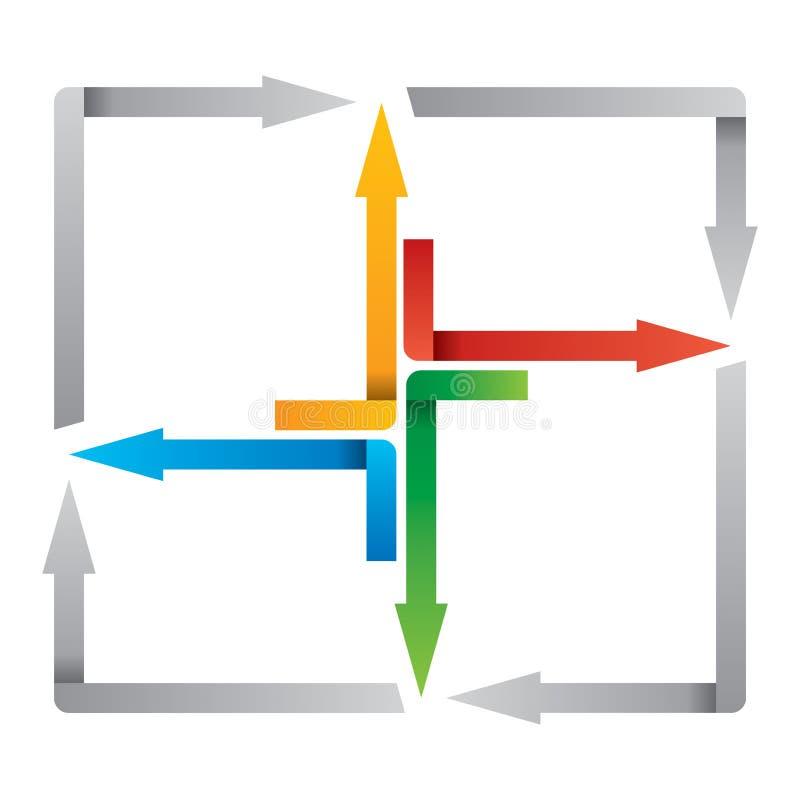 Kleurenpijlen - abstracte illustation vector illustratie