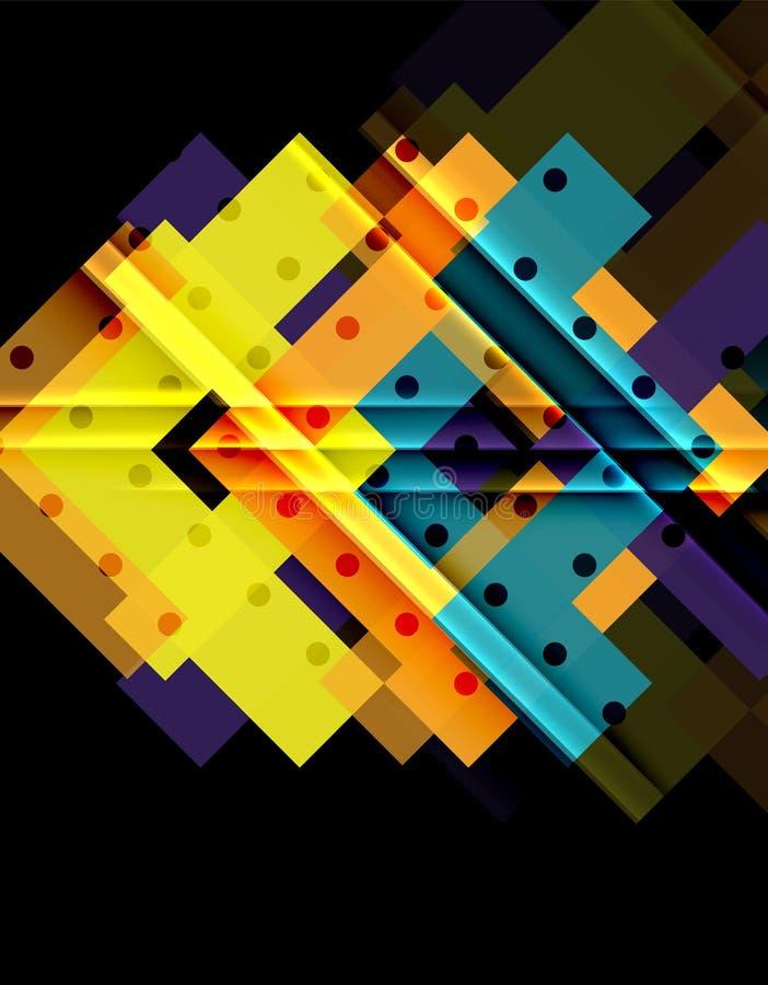 Kleurenpijlen op zwarte achtergrond royalty-vrije illustratie