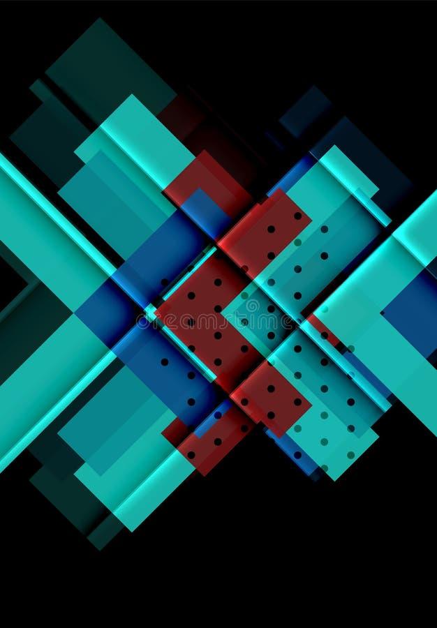 Kleurenpijlen op zwarte achtergrond vector illustratie
