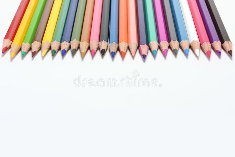 Kleurenpotloden stock afbeelding