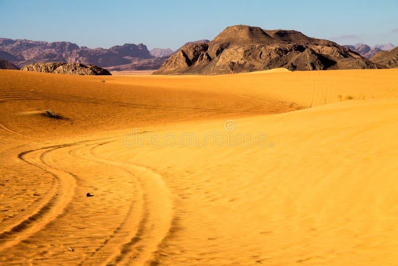 Kleurentonen in Wadi Rum-woestijn royalty-vrije stock fotografie