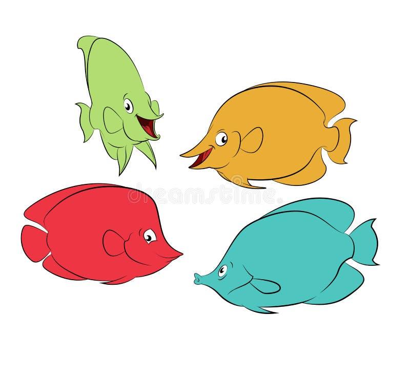 Kleurenvissen stock illustratie