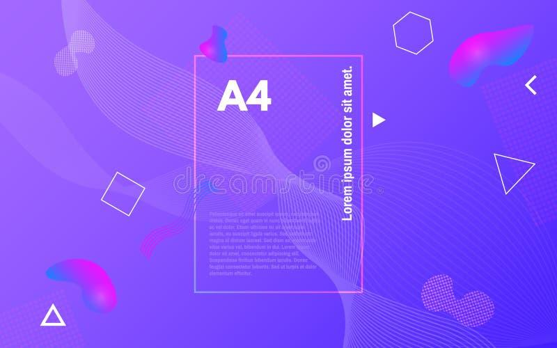 Kleurenvormen Abstracte geometrisch Helder ontwerp met vloeibare elementen In vloeibare achtergrond Bedrijfsdekking royalty-vrije illustratie