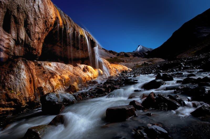 Kleurenwaterval van Qilian-Berg stock afbeeldingen