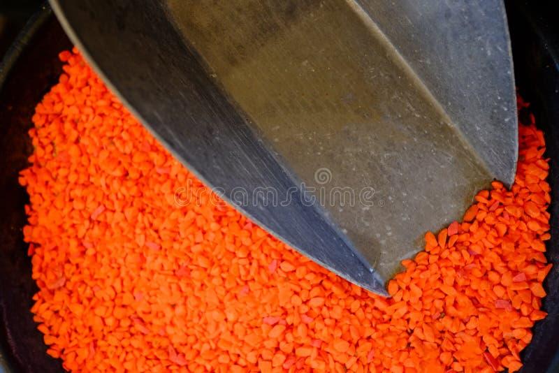 Kleurenzand voor ambachtproducten stock afbeelding