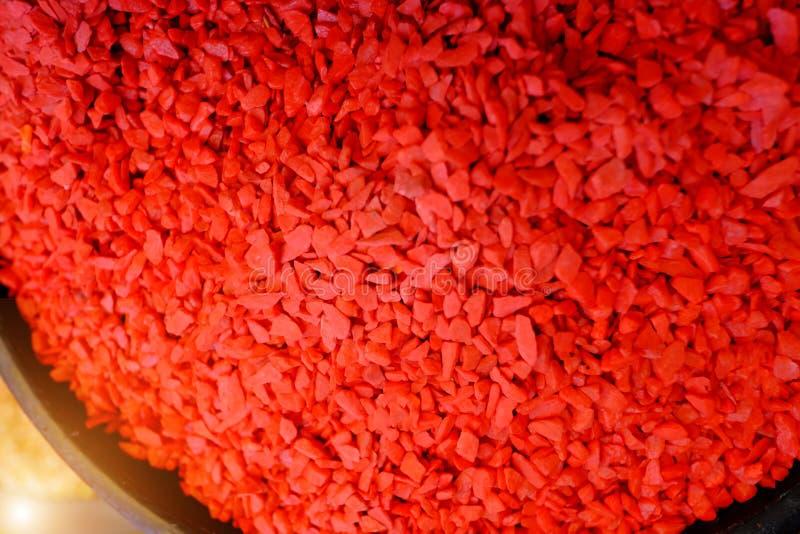 Kleurenzand voor ambachtproducten stock afbeeldingen