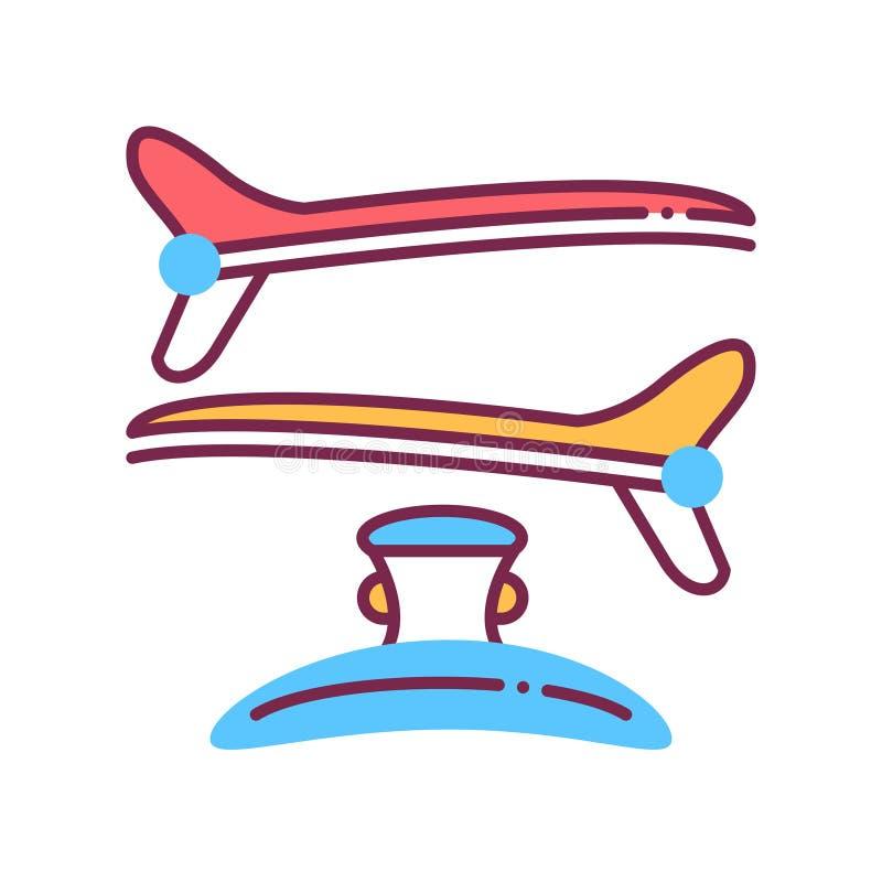 Kleurlijnpictogram Hairpins Hairdresser-diensten Hairstyle-item Vrouw accessoire Schoonheidsindustrie Pictogram voor webpagina, p royalty-vrije illustratie