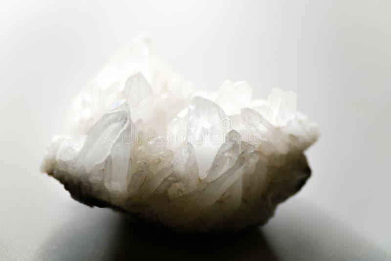 Kleurloos Kwarts Crystall royalty-vrije stock afbeeldingen