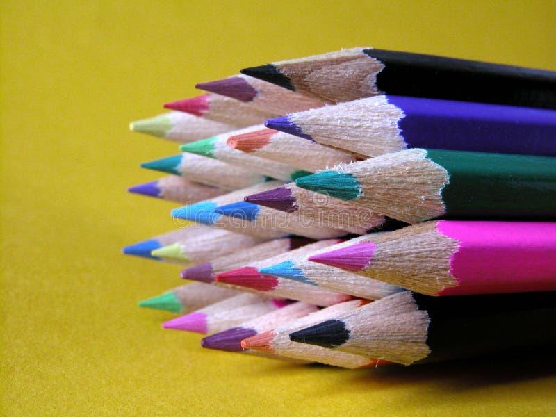 Kleurpotloden Royalty-vrije Stock Fotografie