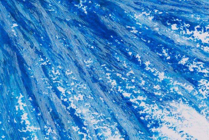 kleurpotloden blauw kader stock foto's