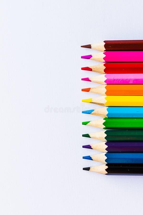 Kleurpotloden rechtop royalty-vrije stock afbeelding