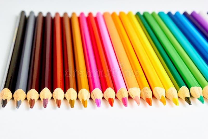 Kleurpotloden voor tekening stock afbeeldingen