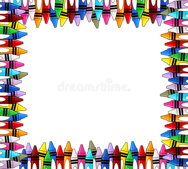 Kleurpotlodenkader royalty-vrije illustratie