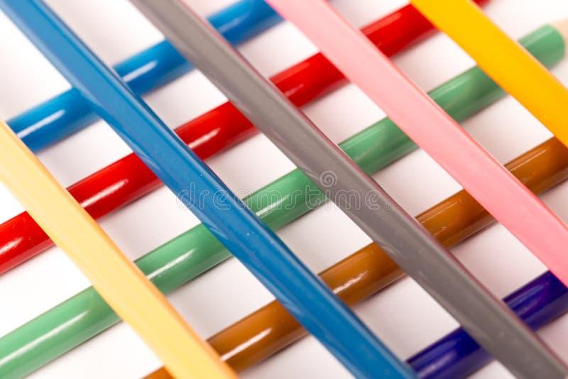 Kleurpotlodenkleurpotloden stock afbeelding