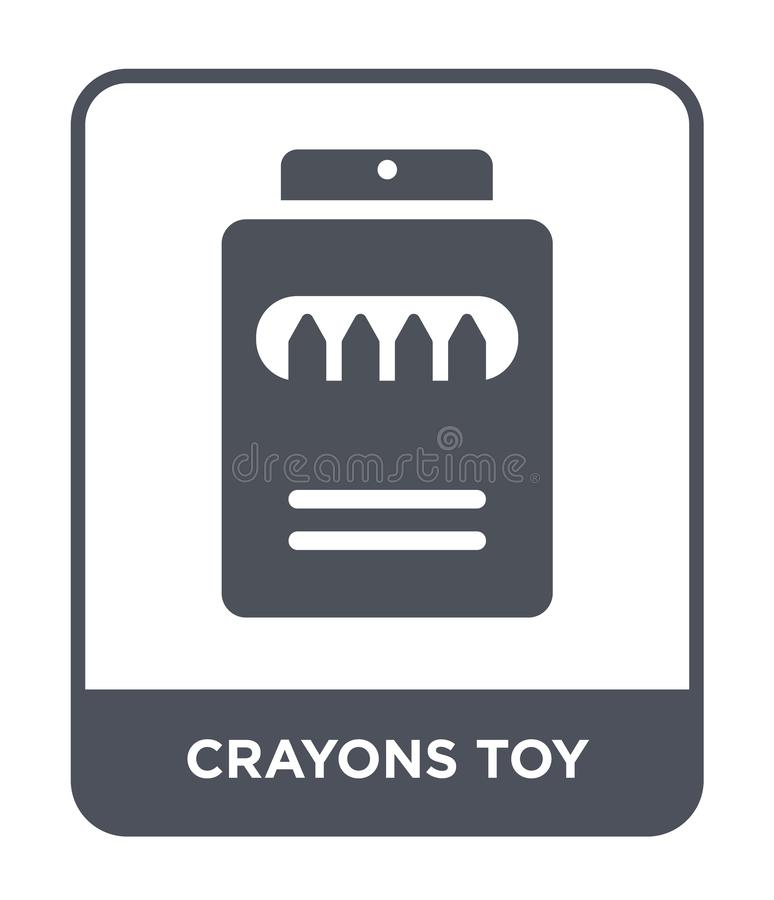 kleurpotlodenstuk speelgoed pictogram in in ontwerpstijl kleurpotlodenstuk speelgoed pictogram op witte achtergrond wordt geïsole stock illustratie