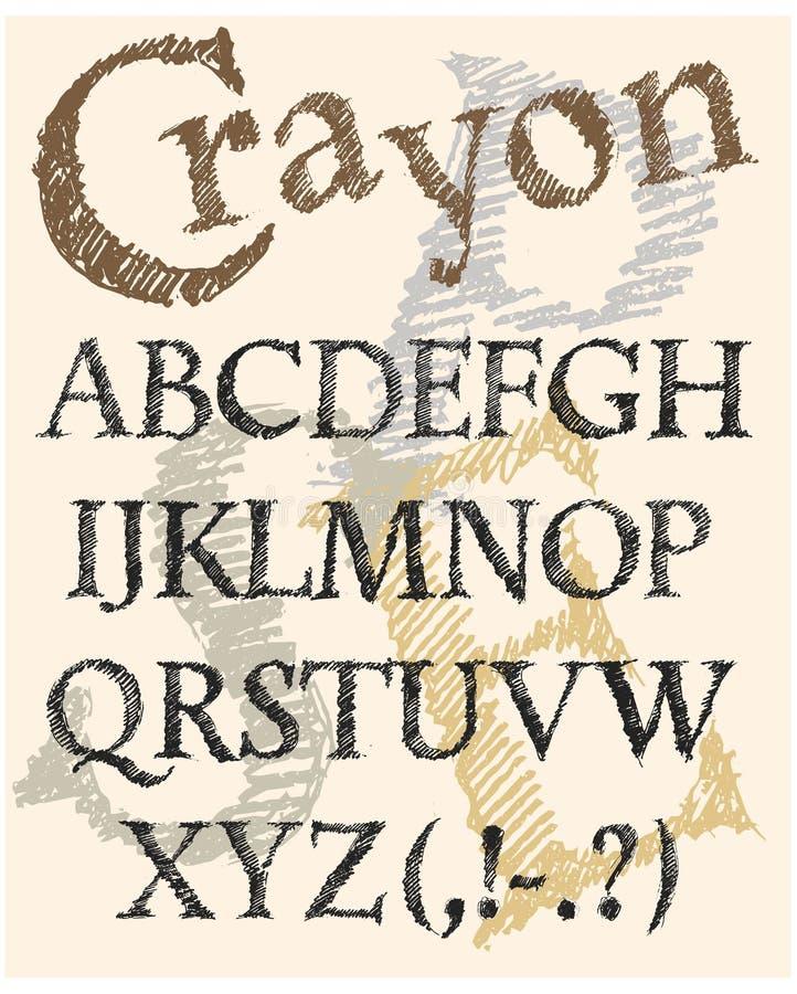 Kleurpotlood het van letters voorzien royalty-vrije stock foto's
