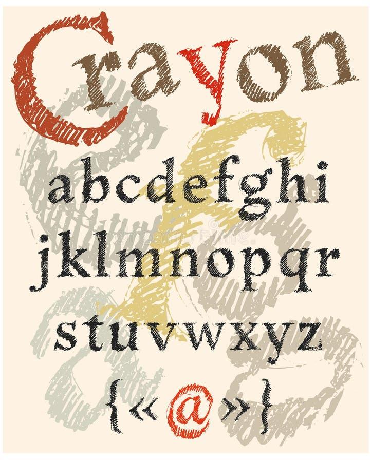 Kleurpotlood het van letters voorzien vector illustratie