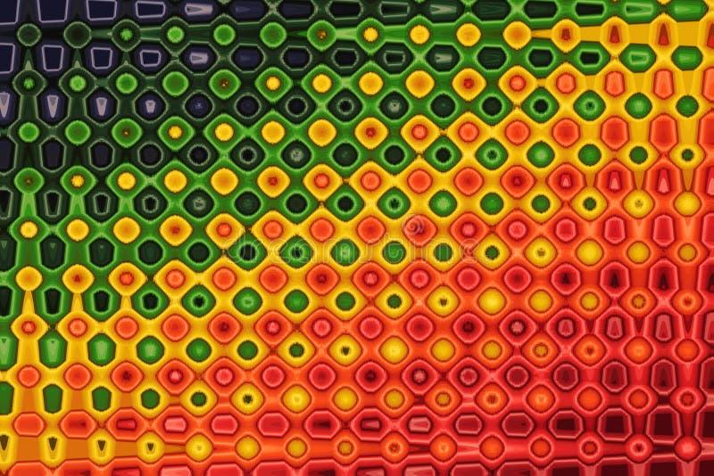 Kleurrijk abstract draaipatroon voor achtergrond stock illustratie