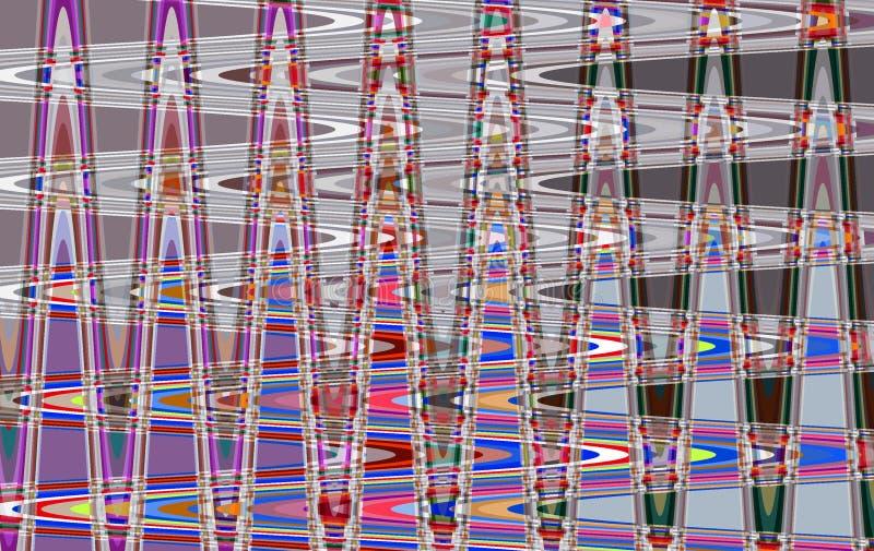 Kleurrijk abstract draaipatroon voor achtergrond vector illustratie