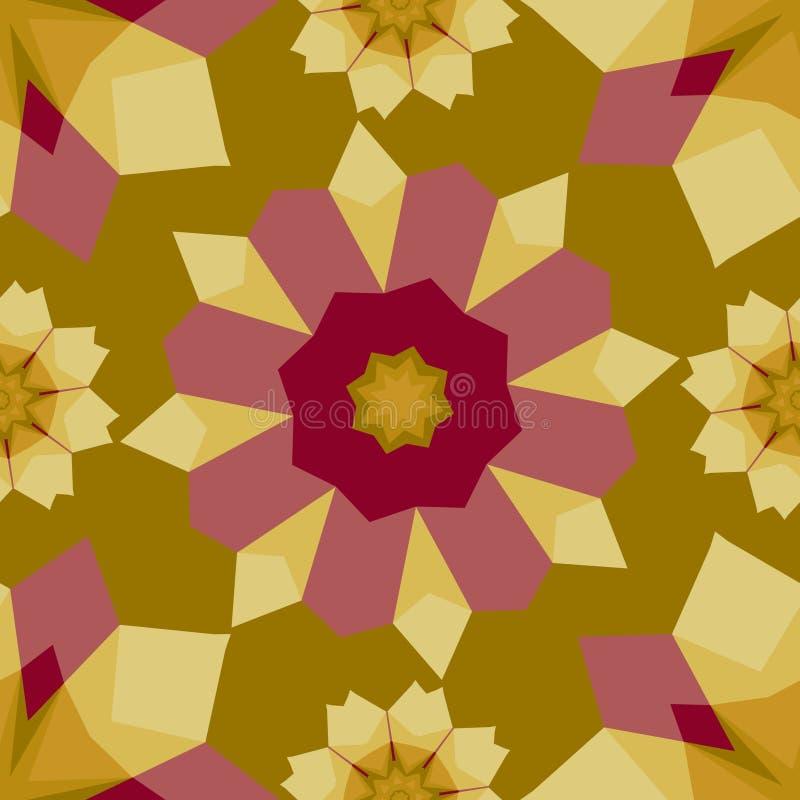 Kleurrijk abstract geometrisch bloemen naadloos patroon stock illustratie