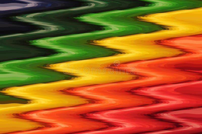 Kleurrijk abstract golfpatroon voor achtergrond stock illustratie