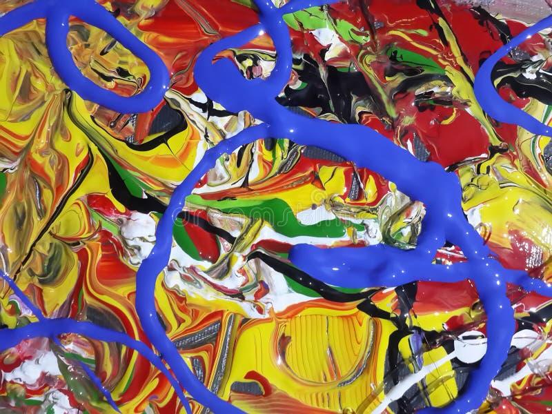 Kleurrijk abstract het schilderen canvas voor huisontwerp stock afbeelding