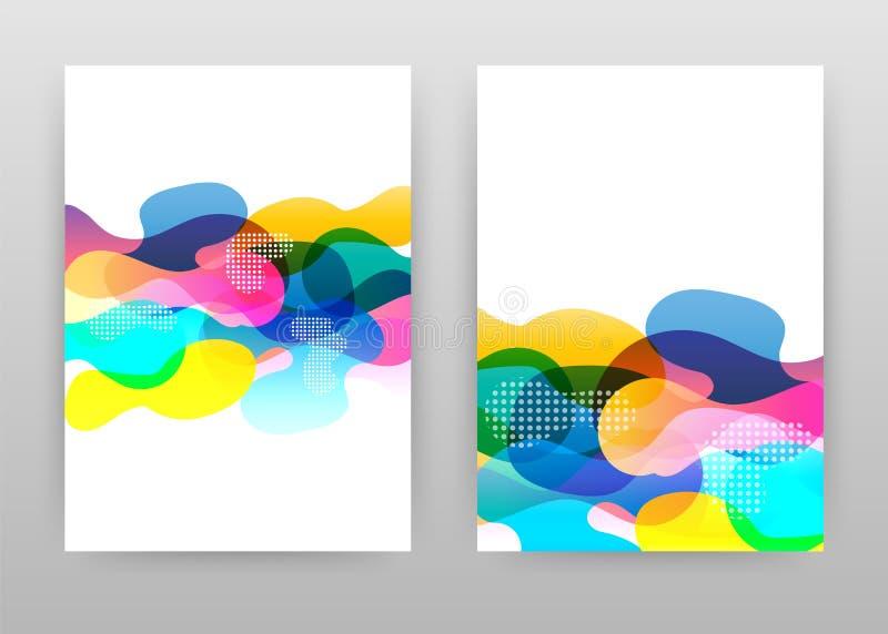 Kleurrijk abstract ontwerp voor jaarverslag, brochure, vlieger, affiche Geometrische abstracte rode gele blauwe elementenvector a royalty-vrije illustratie