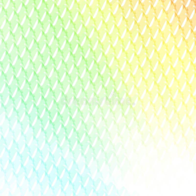 Kleurrijk abstract ontwerpmalplaatje gebogen gekleurde driehoeken royalty-vrije illustratie