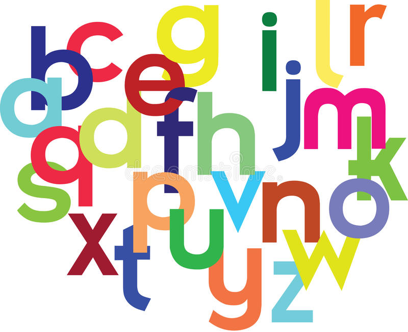 Kleurrijk alfabet royalty-vrije illustratie
