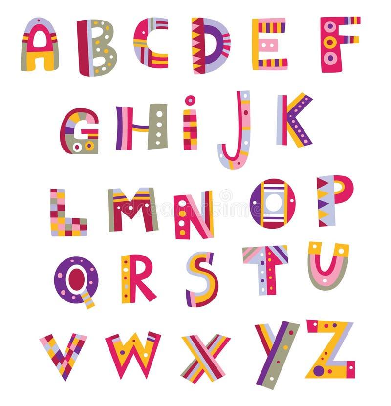 Kleurrijk Alfabet stock illustratie