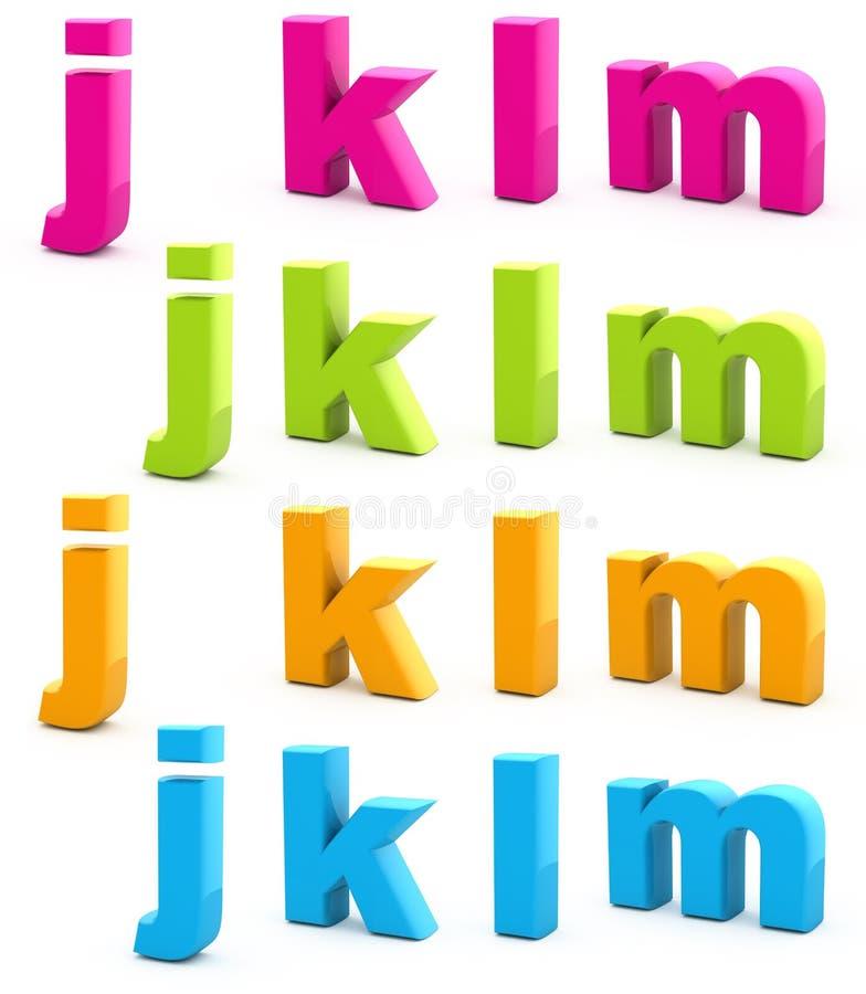 Kleurrijk alfabet. vector illustratie