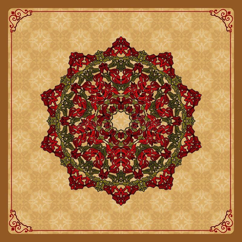 Kleurrijk, arabesques mandala/rozet vector illustratie