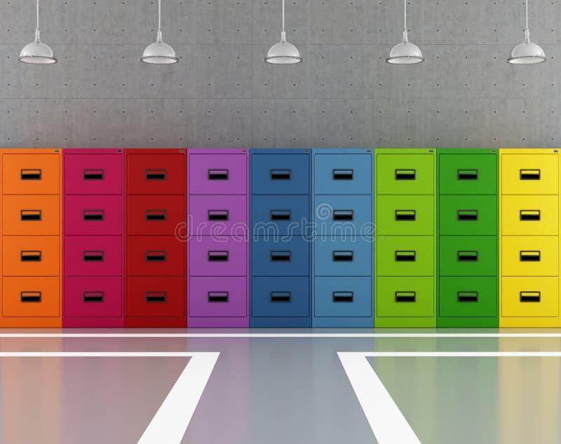 Kleurrijk archief royalty-vrije illustratie