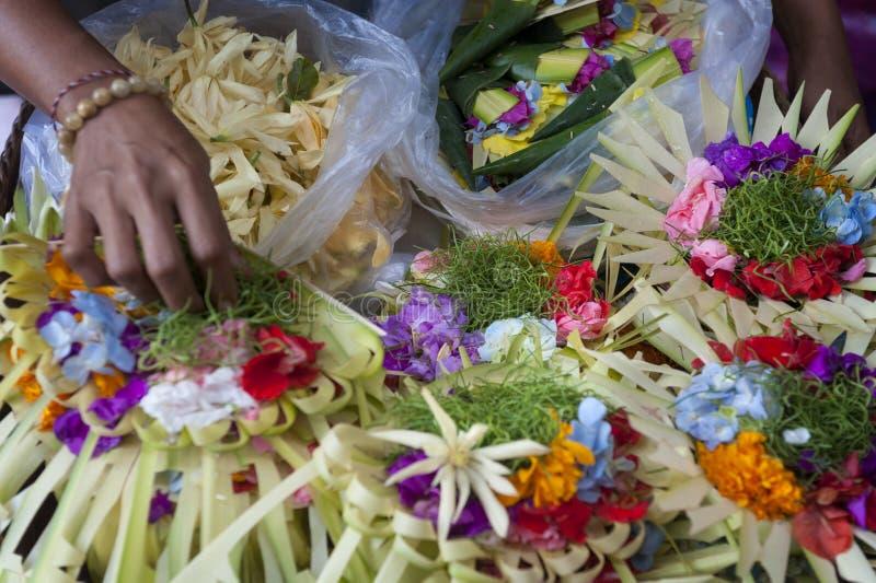 Kleurrijk Balinees Hindoes Dienstenaanbod royalty-vrije stock foto