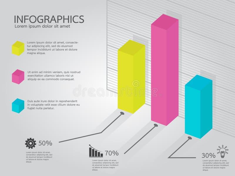 Kleurrijk Barsdiagram Infographic vector illustratie