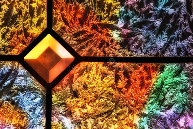 Kleurrijk Berijpt Glas royalty-vrije stock foto's