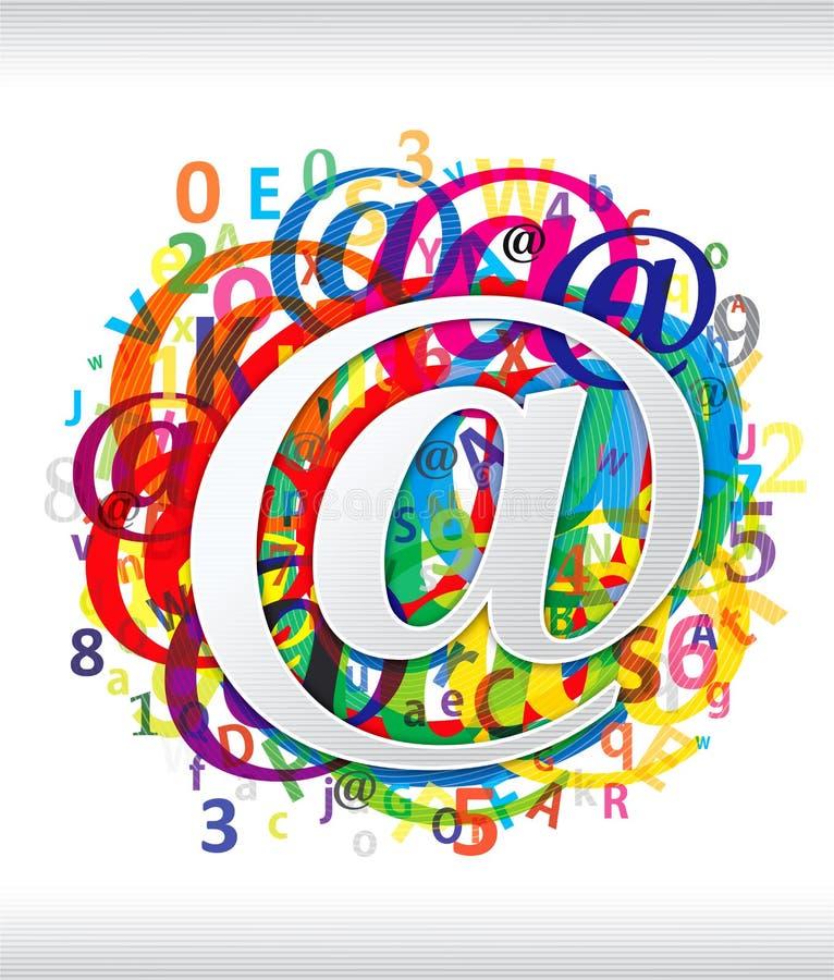 Kleurrijk bij symbool vector illustratie