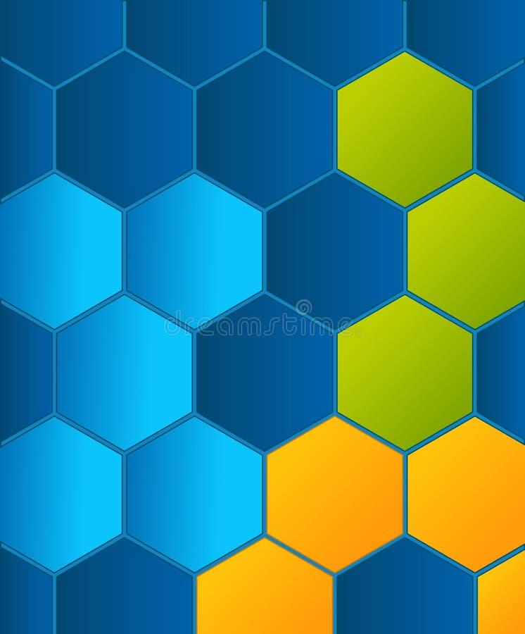Kleurrijk bijenkorfmalplaatje stock illustratie