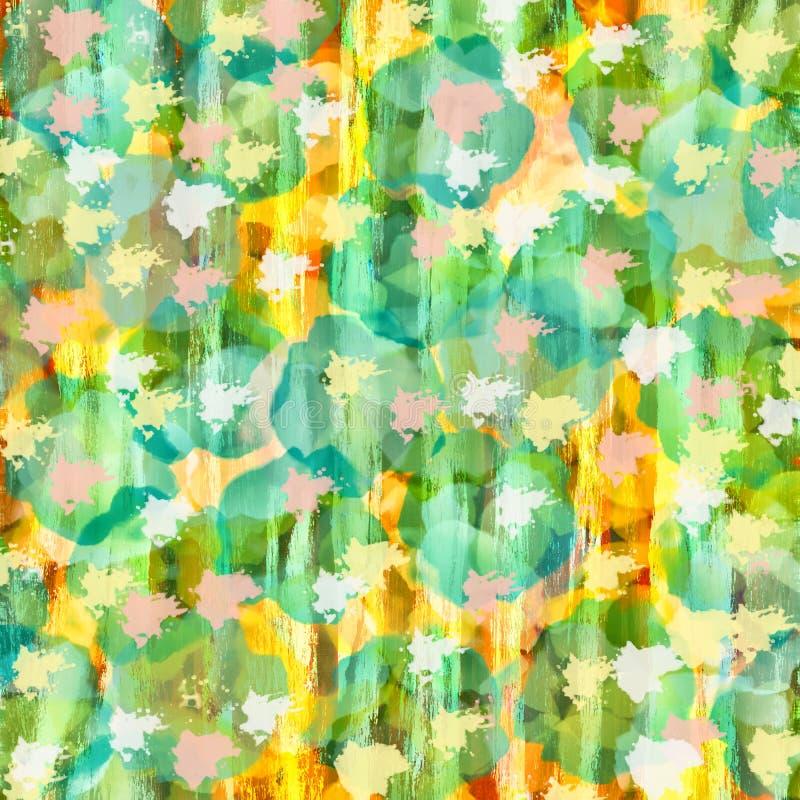 Kleurrijk blauw, roze groen en geel digitaal verfmalplaatje, B stock illustratie