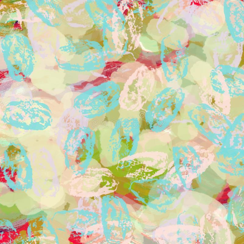 Kleurrijk blauw, roze groen en rood digitaal verfmalplaatje, banne royalty-vrije illustratie