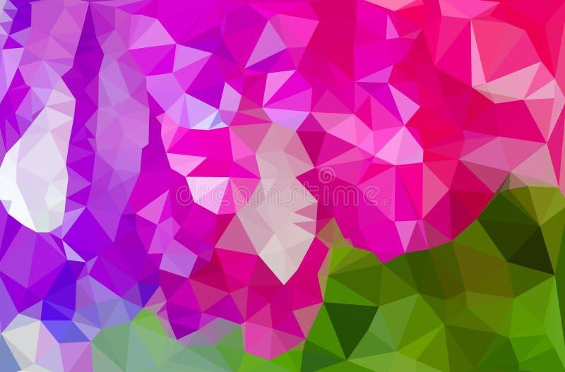 Kleurrijk bloem veelhoekig mozaïek vector illustratie