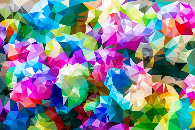 Kleurrijk bloem veelhoekig mozaïek royalty-vrije illustratie
