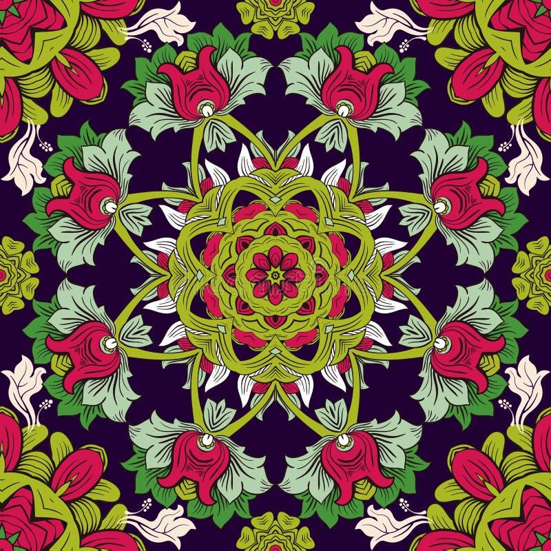 Kleurrijk bloemenbehang Bloemen naadloos patroon Het kan voor prestaties van het ontwerpwerk noodzakelijk zijn royalty-vrije illustratie